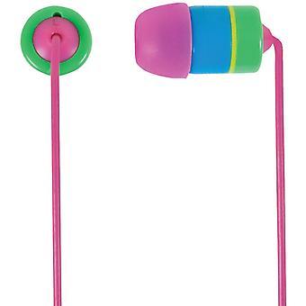 Koss Mens Womens RUK20 In-Ear ISO Headphones - Blue/Pink