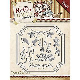 Finden Sie es Trading Yvonne Kreationen Die-Card Set, Holly Jolly