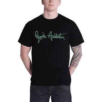 Janes Addiction T Shirt Mens Band logo nothings shocking new Official Black