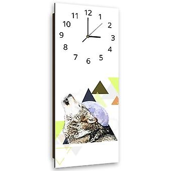 Decorative Clock With Picture, Howling Wolf
