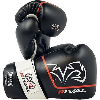 Rival Boxing RS2V 2.0 Super Pro Haken und Schleife Sparring Handschuhe - 14 Unzen - Schwarz