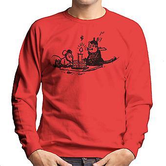 Krazy Kat Ignatz Candle Lit Men's Sweatshirt