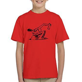 Krazy Kat Walter Cephus Austridge Sitting Kid's T-Shirt