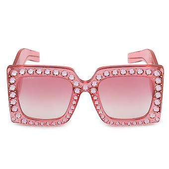Gucci Hollywood ikuisesti ylimitoitettu neliö aurinko lasit GG0145S 001 57