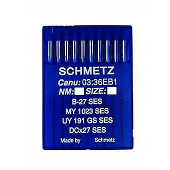 10 Schmetz Industrial Sewing Needles - Overlocker Ball Point B-27 SES / MY 1023 SES (Various Sizes)