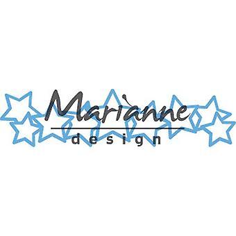 Marianne Design Creatables mange stjerner dø, metall, blå, 18,5 x 8.4 x 0,2 cm