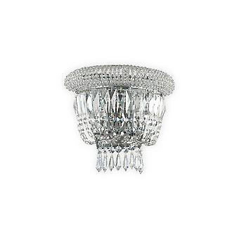 Ideal Lux Dubai 2 licht wand lamp chroom IDL207155
