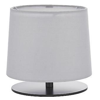 Endon Carlson 1 Light Table Light Matt Black & Light Grey Cotton Mix 79501