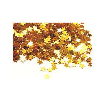 Mini złota gwiazda konfetti 14gm