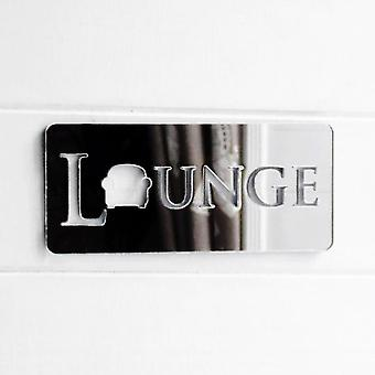 Lounge / vardagsrum stol akryl speglad dörr skylt
