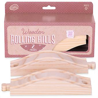 Rolling Hills Wooden Track, 2-pack