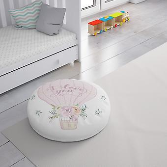 Meesoz Floor Cushion - I Love You Pink