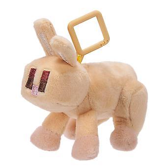 Minecraft Yellow Rabbit Mini Peluche con giocattolo Clip