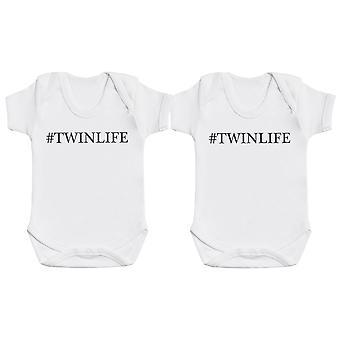 #Twinlife Baby Body Suit Twin Set