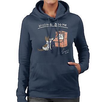 Simon's Cat Hissing Booth Women's Hooded Sweatshirt