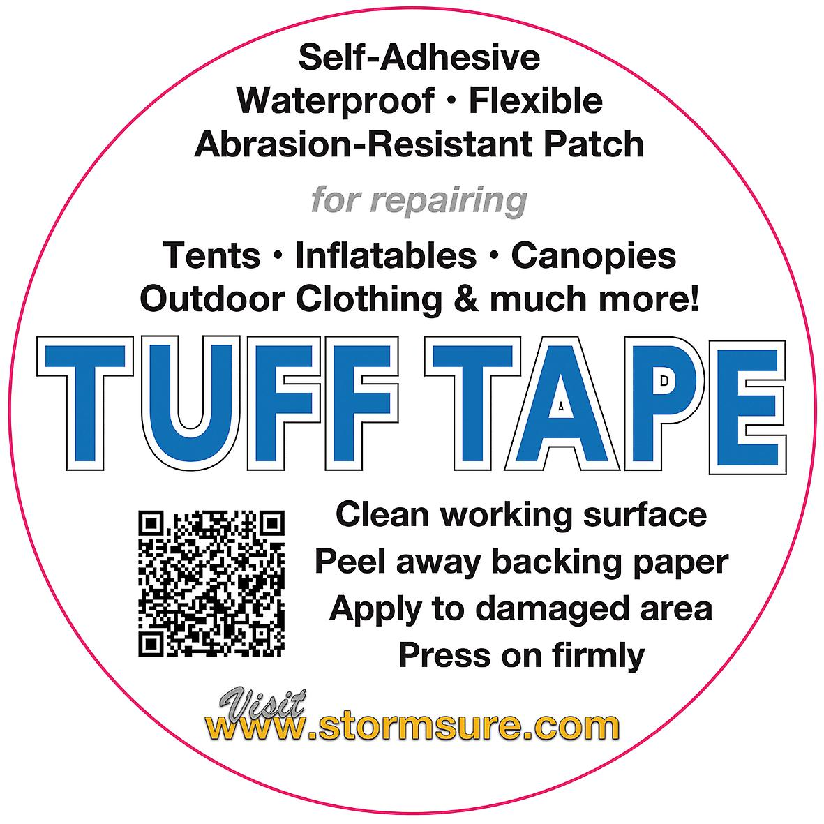 TUFF Tape Self-Adhesive Assorted Patches and strip