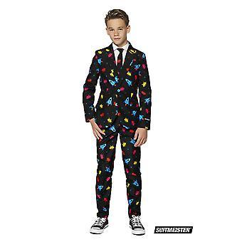 Jeu vidéo 90s Gamer Kids Suit Suit SuitMaster Slimline Premium 3-pièces