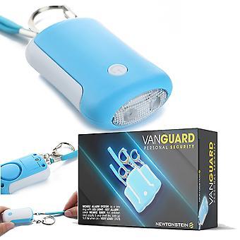 Vanguard - Mobile allarme sistema come un portachiavi con luce LED - tasto allarme - sirena di Mobile ideale per bambini e adulti 5 anno Shelf Life dura fino a 1 ora quando il - molto rumoroso 125DB