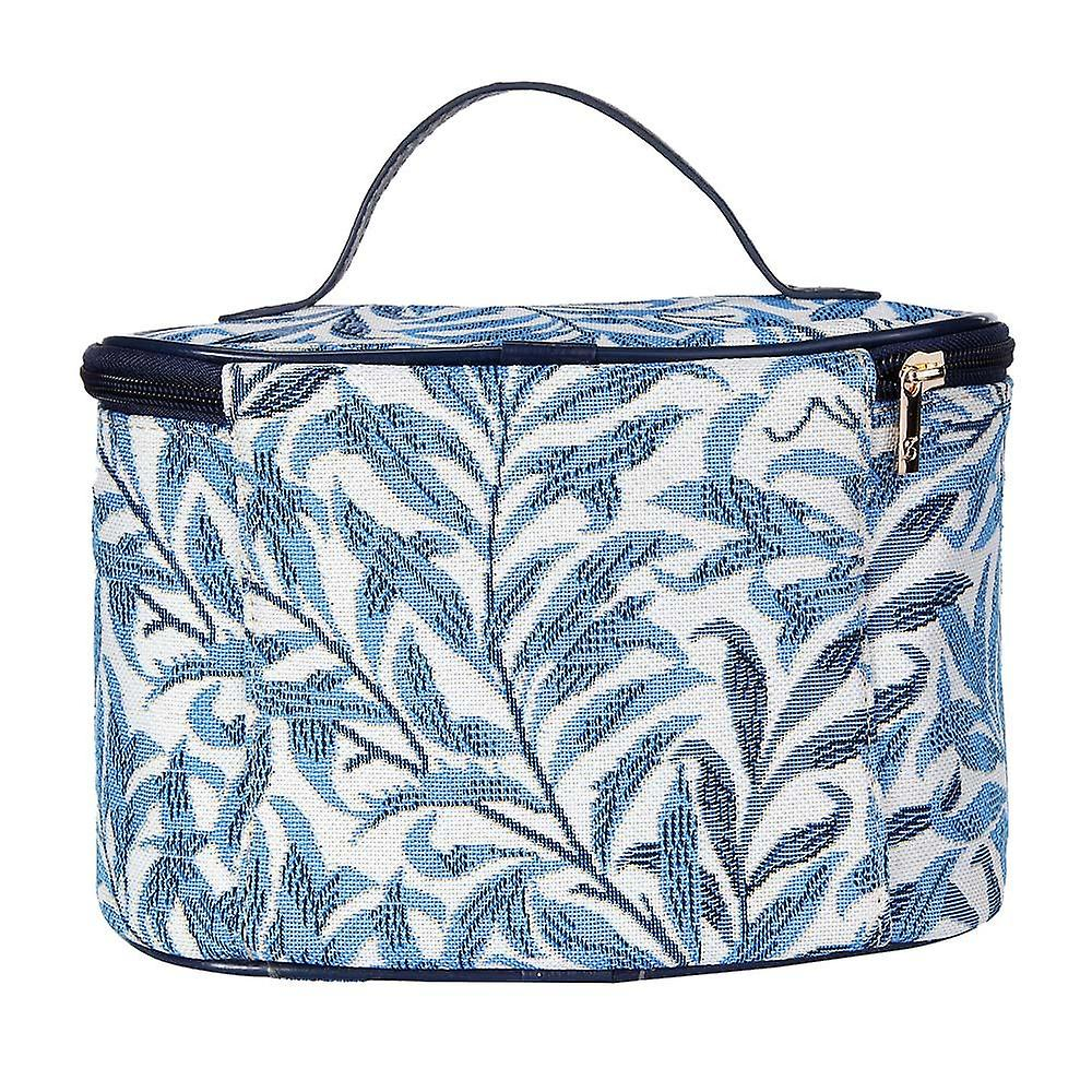 William morris - willow bough makeup bag by signare tapestry / toil-wiow