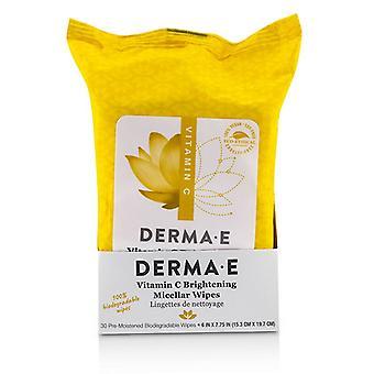 Derma E-vitamiini kirkastaa micellar-pyyhkeet-30 pyyhettä