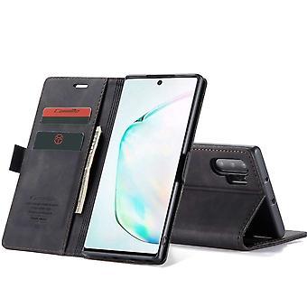 Retro Wallet Slim für Samsung Note 10 Plus Schwarz