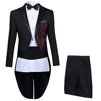 Allthemen men ' s 4-delige elegante bruiloft slim fit kostuums Tuxedo kostuum
