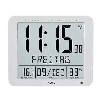 reloj de pared digital radio AMS - 5884