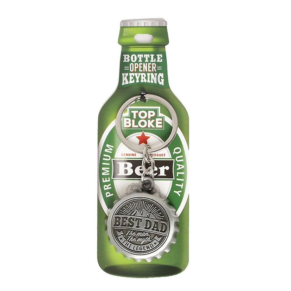 History & Heraldry Keyring - Best Dad Bottle Opener