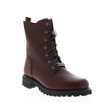 Harley-Davidson Wicklyn Womens Brown Leather Zipper Motorcycle Boots