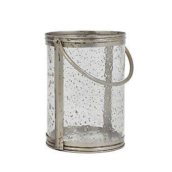 Light & Living Hurricane 23x30cm Bornes Glass Antique And Handle Silver