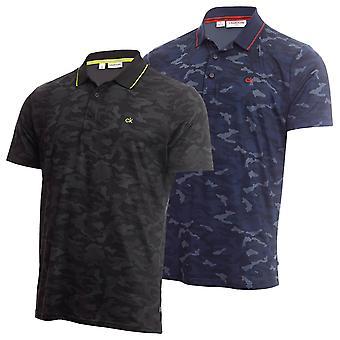 Calvin Klein Mens Camo-Pro Wicking Andas Kort ärm Golf Polo Skjorta
