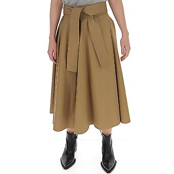Maison Flaneur 20smdsk210tc127camel Women's Beige Cotton Skirt