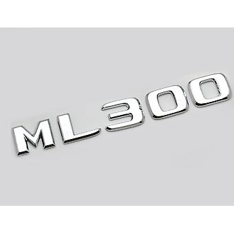 Silver Chrome ML300 Flat Mercedes Benz Car Model Numbers Letters Badge Emblem For M Class W163 W164 W166 AMG
