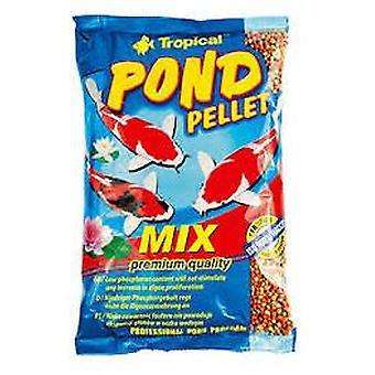 Trooppinen lampi pelletti sekoitus pussi 10L / 1300 Gr (kala, ruoka, kylmä vesi)