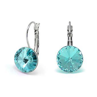 Crystal earrings Light Turquoise EMB 1.15