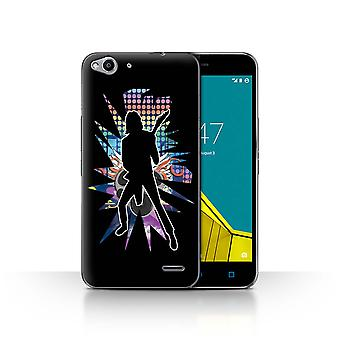 STUFF4 Case/Cover for Vodafone Smart Ultra 6/Solo Black/Rock Star Pose