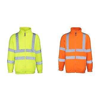 RTY haute visibilité Mens High Vis Full Zip Fleece Jacket