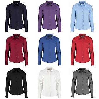 Kustom Kit Womens/Ladies Long Sleeve Tailored Poplin Shirt
