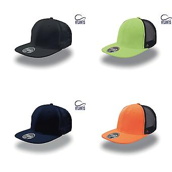 Atlantis Snap Mesh Flat Visor 6 Panel Trucker Cap