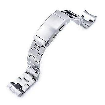 Strapcode watch bracelet 20mm super oyster watch band for seiko mm300 prospex marinemaster sbdx001 sbdx017, brushed, wetsuit ratchet buckle
