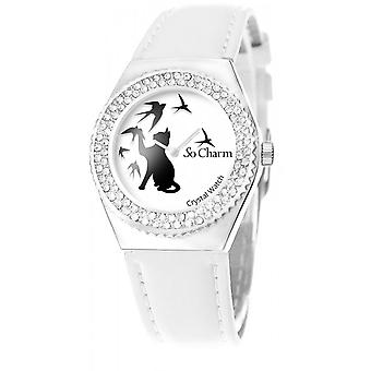 Bekijk So Charm Watches MF316-OISEAU-CHAT-WHITE - Dameshorloge