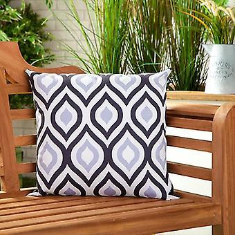 "Gardenista® Geometric Black Grey Design 18"" Water Resistant Scatter Cushion"