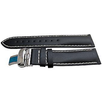 Authentische tissot Armband schwarz Kalb 20m t28186