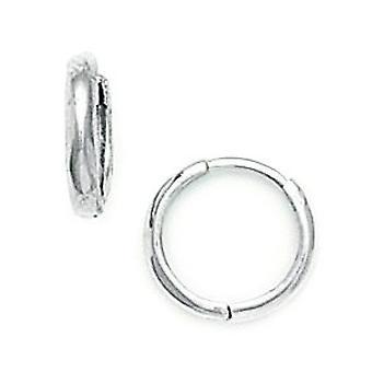 14k White Gold Kleine Ronde Scharnierende oorbellen maatregelen 11x11mm sieraden geschenken voor vrouwen