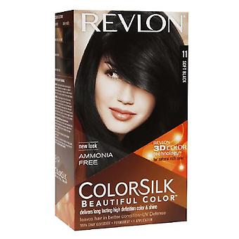 Revlon colorsilk beautiful color, soft black 11, 1 ea