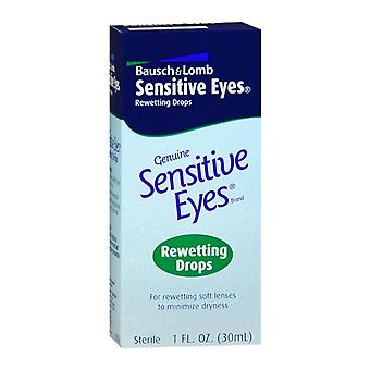 Sensitive eyes drops for rewetting soft lenses to minimize dryness, 1 oz
