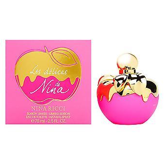 Nina les delices by nina ricci for women 2.5 oz eau de toilette spray limited edition