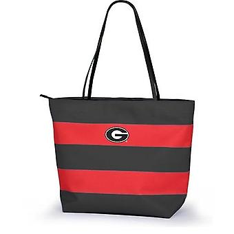 Georgia Bulldogs NCAA Game Day Rugby Striped Tote