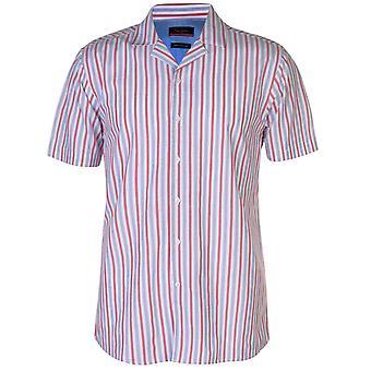 Pierre Cardin Mens Reverse Stripe chemise Casual Tops
