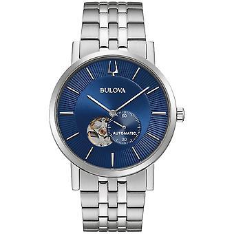 Bulova 96A247 Clipper Blue Dial Automatic Mechanical Wristwatch